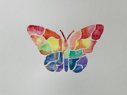 The Butterfly Watercolour Painting
